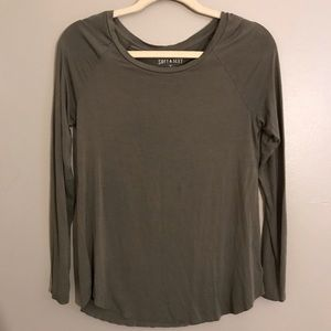 AEO Soft And Sexy raw hem long sleeve T-shirt